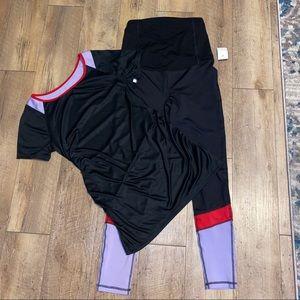 Maternity leggings and active top bundle